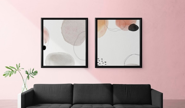 Frame mockup in a living room