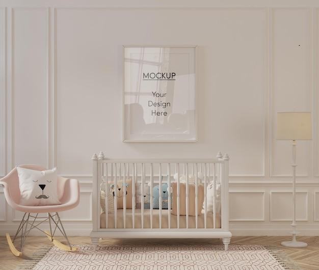 Frame mockup in modern nursery room