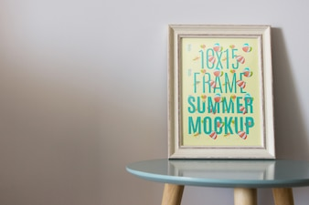 Frame mockup on table