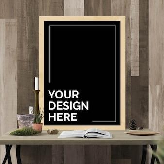 Frame mockup on table