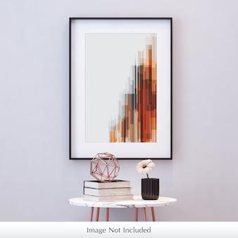 Frame mockup on wall