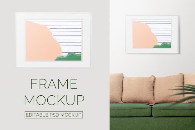 Рамка-макет psd с коллажем из пастельной бумаги