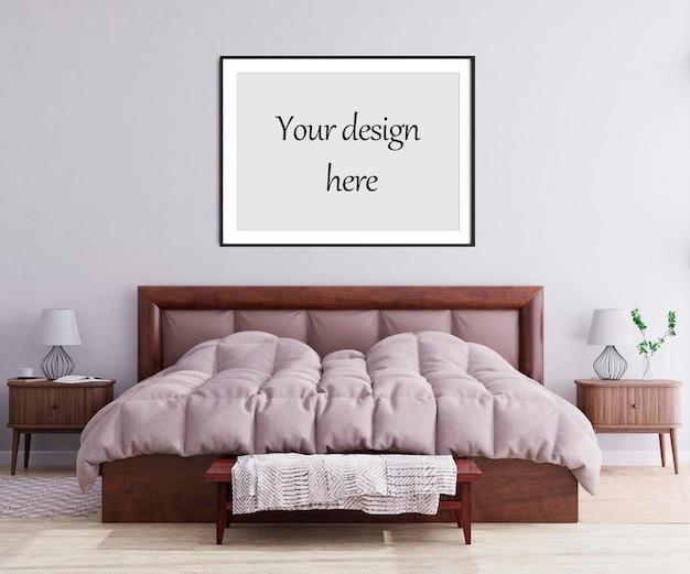 Каркасный макет в скандинавском стиле интерьера. 3d рендеринг, 3d иллюстрация