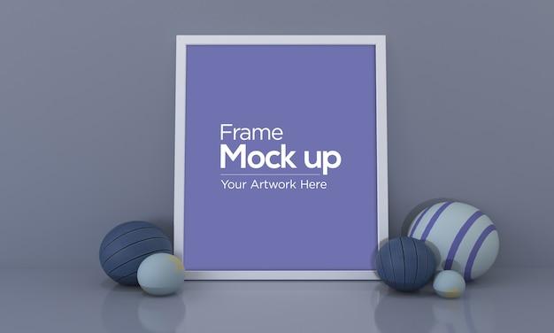 Frame mockup with balls