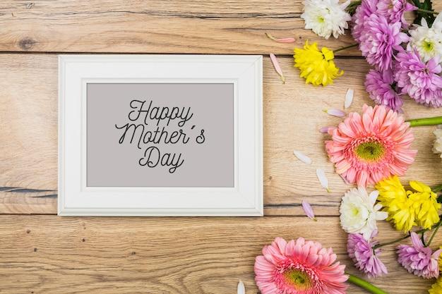 Рамка макет с концепцией день матери