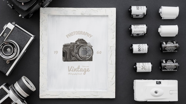 Frame mockup with photography concept