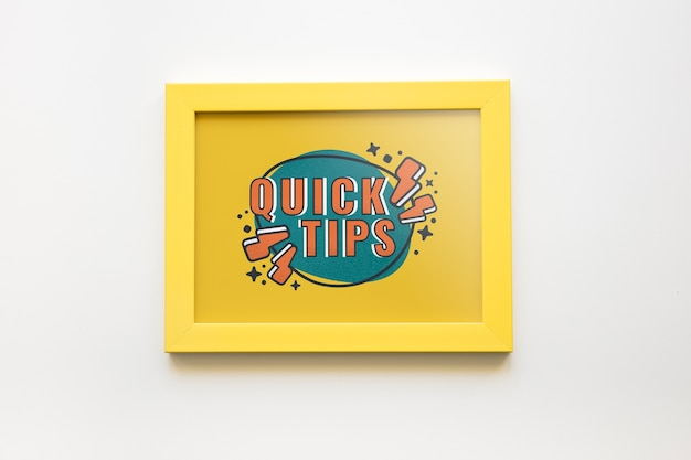 Frame mockup with tips concept