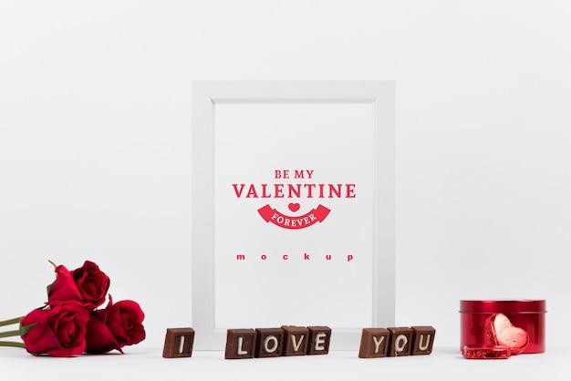 발렌타인 개념 프레임 이랑
