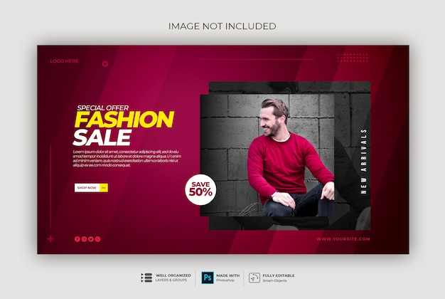 Frame modern dynamic clean simple web banner template sweatshirt