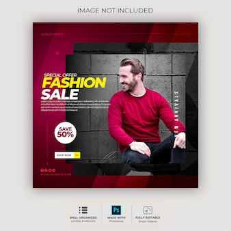 Frame modern instagram social media template post template or square banner sweatshirt