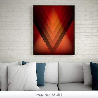 Frame or poster mockup in living room