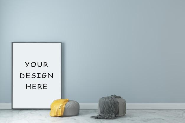 Рамка постера с дизайном интерьера комнаты