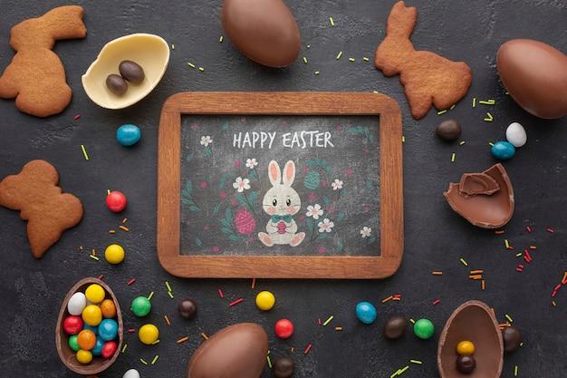Рамка с шоколадным печеньем
