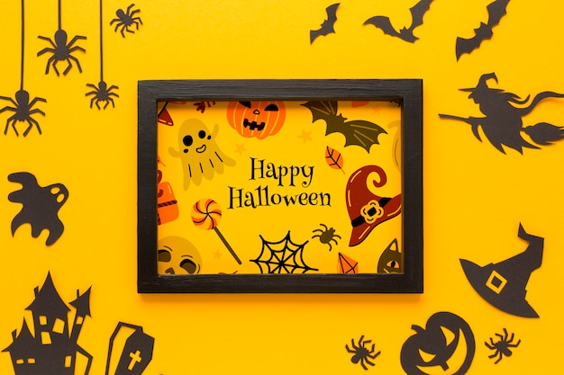 Frame with halloween drawing