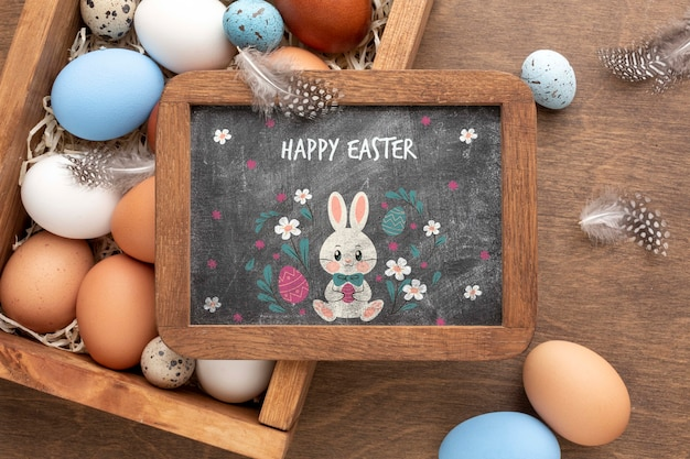 Frame with message for easter