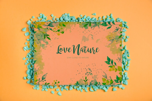 Frame with nature message inside