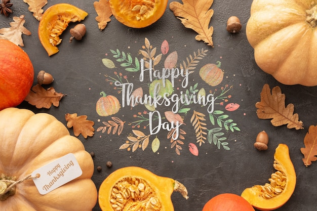 Frame with thanksgiving day message