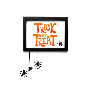 Frame with trick or treat message