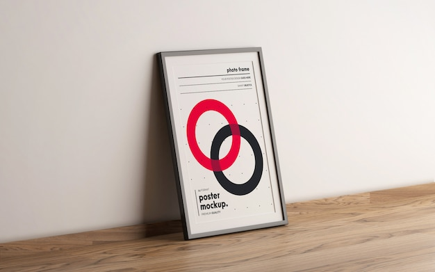 Framed poster template mokcup