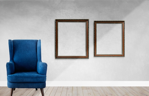 Frames in a living room