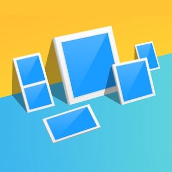 Frames mock up design Free Psd