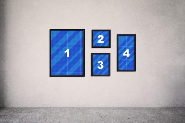 Frames on wall mockup