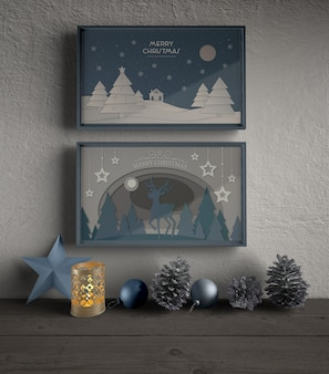 Frames with thematic theme for christmas