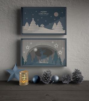 Рамки с тематической темой на рождество