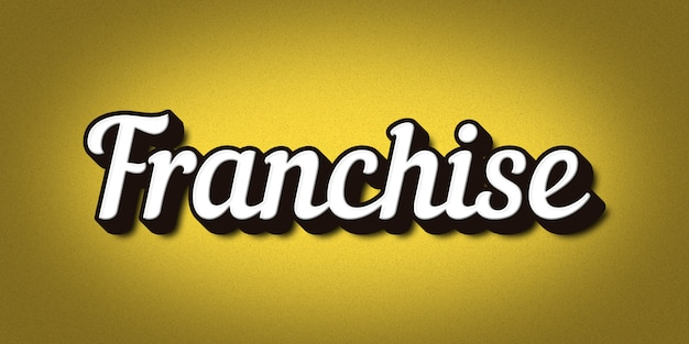 Franchise text style effect