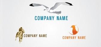 Free animal logo design template set