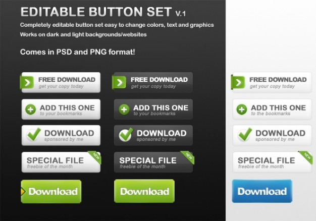 Free button set