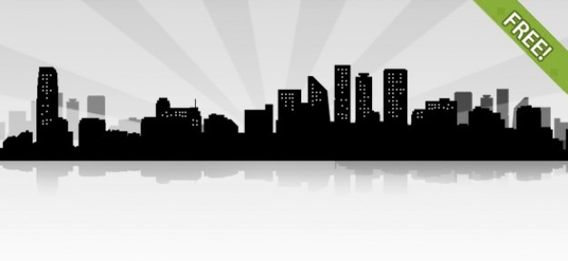 Libera città siluet paesaggio