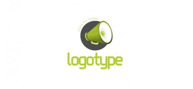 スピーカー付きの無料通信のロゴのデザインテンプレート