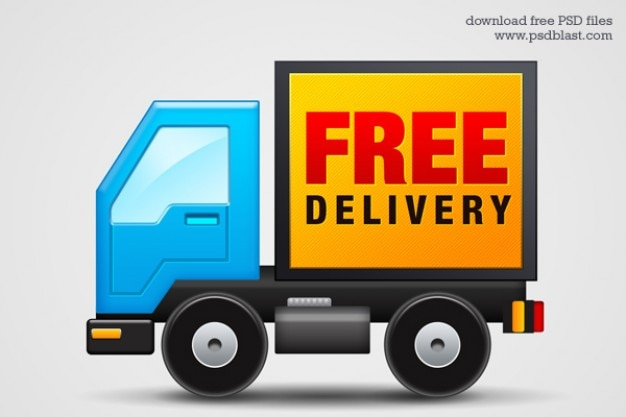 Free delivery icon  psd