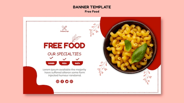 Free food banner concept