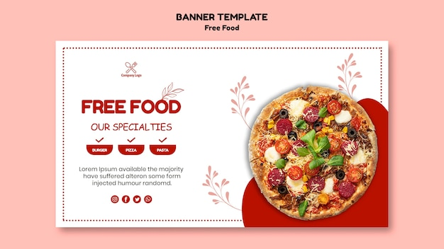 Free food banner