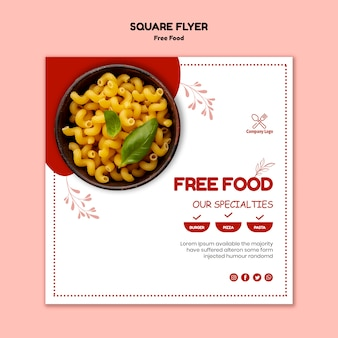 Free food flyer theme