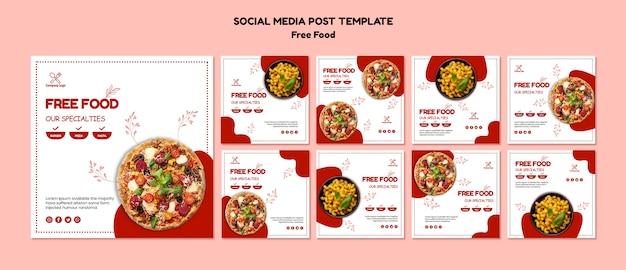 Free food social media post