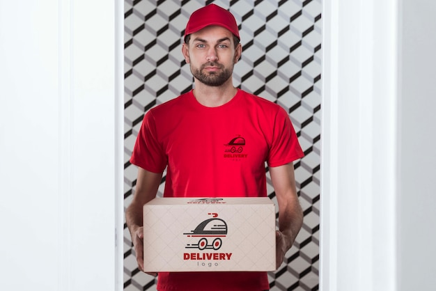Free non-stop delivery and confident guy