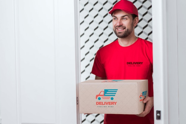 Free non-stop delivery and smiley postman