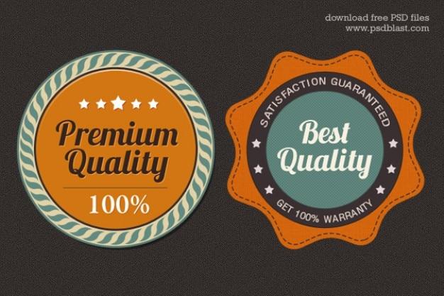 Free premium quality web badge  psd