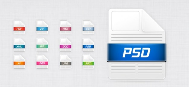 Free psd file icons