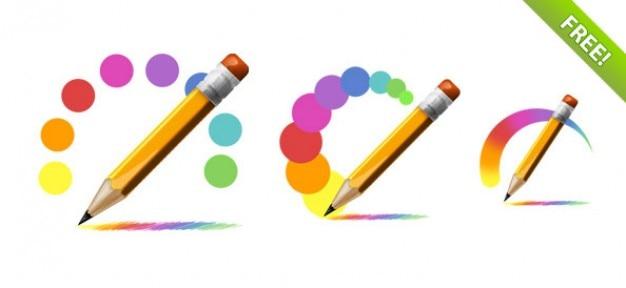 Free psd pencil icons