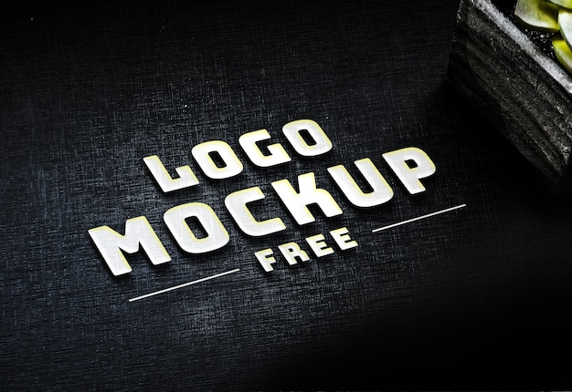 Free psd white business logo mock up