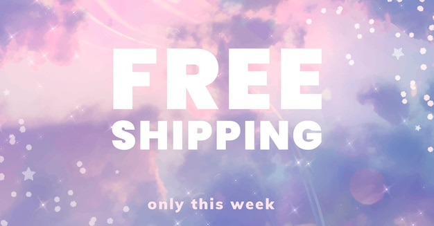 Free shipping promotion template psd for social media post