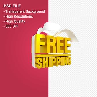Бесплатная доставка продажа с бантом и лентой 3d дизайн изолированы