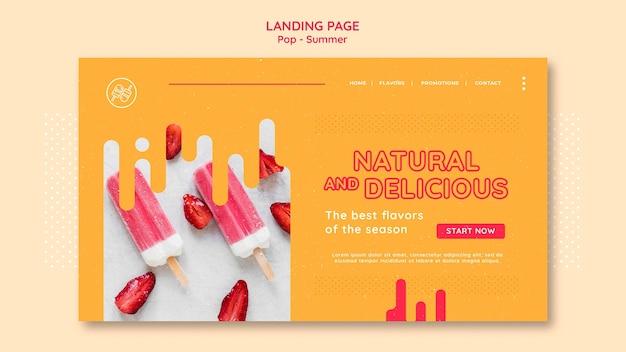 Бесплатный шаблон дизайна целевой страницы темы