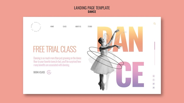 Free trial class landing page template