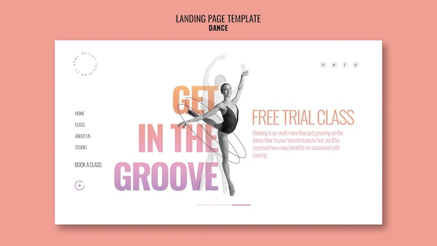 Free trial class landing page