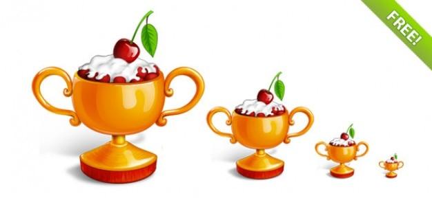 Free winner cup icon set
